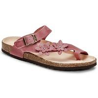 Shoes Women Flip flops Dream in Green MINIK Fuschia