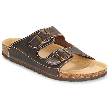 Shoes Men Mules Dream in Green FIBBIE Brown