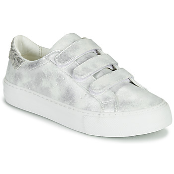 Shoes Women Low top trainers No Name ARCADE STRAPS Silver / White