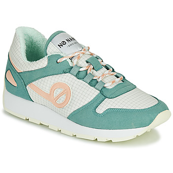 Shoes Women Low top trainers No Name CITY OPEN Green / Pink