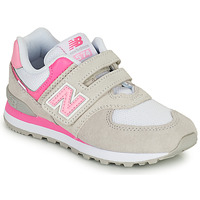 Shoes Girl Low top trainers New Balance 574 Grey / Pink