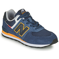 Shoes Boy Low top trainers New Balance 574 Blue / Yellow