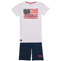 material Boy Tracksuits Redskins SET301-WHITE-NAVY Multicolour