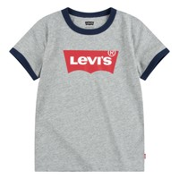 material Boy short-sleeved t-shirts Levi's BATWING RINGER TEE Grey