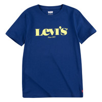 material Boy short-sleeved t-shirts Levi's GRAPHIC TEE Blue