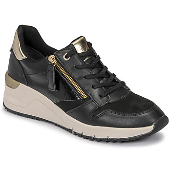 Shoes Women Low top trainers Tamaris REA Black / Gold