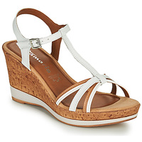 Shoes Women Sandals Tamaris VESILA White / Cognac