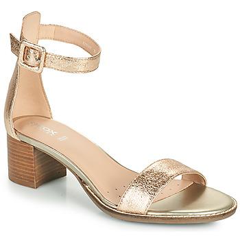 Shoes Women Sandals Geox D SOZY MID E Gold