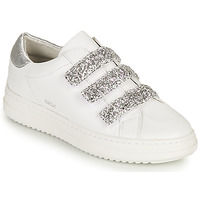 Shoes Women Low top trainers Geox D PONTOISE C White / Silver