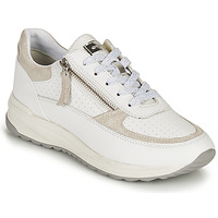 Shoes Women Low top trainers Geox D AIRELL A White / Beige