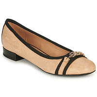 Shoes Women Ballerinas Geox D WISTREY D Beige / Black