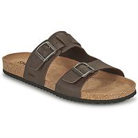 Shoes Men Mules Geox U SANDAL GHITA B Brown