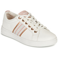 Shoes Girl Low top trainers Geox J DJROCK GIRL H White / Pink