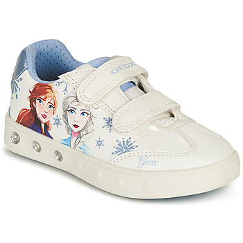Shoes Girl Low top trainers Geox SKYLIN GIRL White / Blue