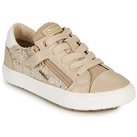 Shoes Girl Low top trainers Geox KILWI GIRL Beige