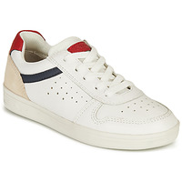 Shoes Boy Low top trainers Geox DJROCK BOY White / Marine / Red