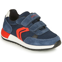 Shoes Boy Low top trainers Geox J ALBEN BOY A Marine / Red
