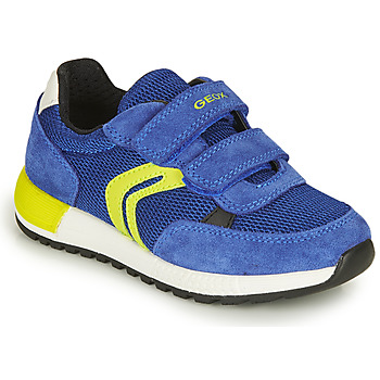 Shoes Boy Low top trainers Geox J ALBEN BOY A Marine / Yellow