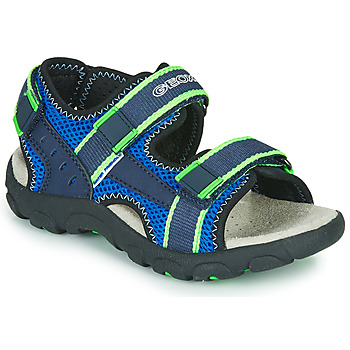Shoes Boy Sports sandals Geox JR SANDAL STRADA Blue / Green