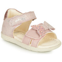 Shoes Girl Sandals Geox SANDAL ALUL GIRL Pink