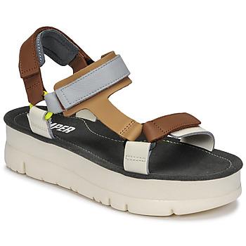 Shoes Women Sandals Camper ORUGA UP Brown / Grey