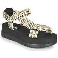 Shoes Women Sandals Camper ORUGA UP Black / Beige
