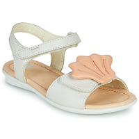 Shoes Girl Sandals Camper TWINS Pink / White