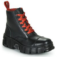 Shoes Mid boots New Rock M-WALL005-C19 Black / Red