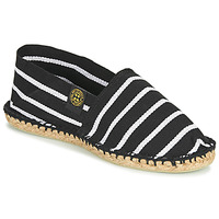 Shoes Espadrilles Art of Soule RAYURE Black / White