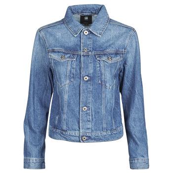material Women Denim jackets G-Star Raw 3301 Straight Dnm Jkt Wmn Faded