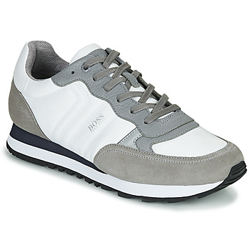 Shoes Men Low top trainers BOSS PARKOUR RUNN MX White / Grey