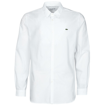 material Men long-sleeved shirts Lacoste PITTA White