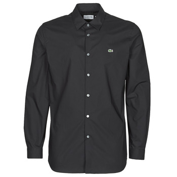 material Men long-sleeved shirts Lacoste PITTA Black
