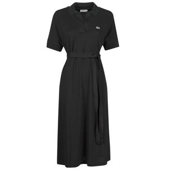 material Women Long Dresses Lacoste KONNI Black