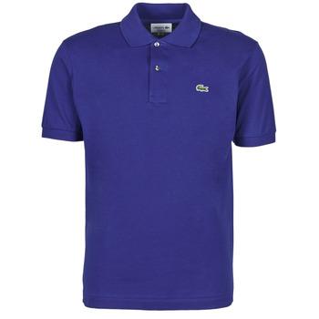 material Men short-sleeved polo shirts Lacoste POLO CLASSIQUE L.12.12 Blue / Roi