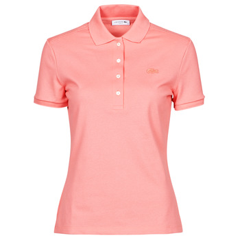 material Women short-sleeved polo shirts Lacoste POLO SLIM FIT Pink
