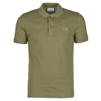 material Men short-sleeved polo shirts Lacoste POLO SLIM FIT PH4012 Kaki