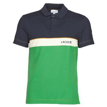 material Men short-sleeved polo shirts Lacoste POLO REGULAR FIT PH9766 Black / Green