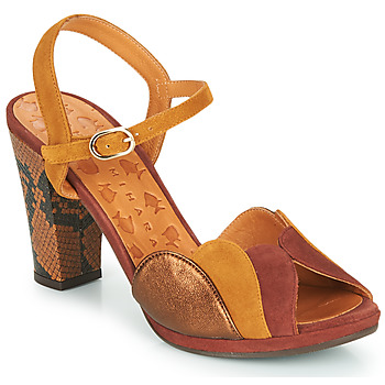 Shoes Women Sandals Chie Mihara Adita Cognac / Yellow / Coppery