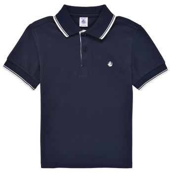 material Boy short-sleeved polo shirts Petit Bateau MIPE Marine