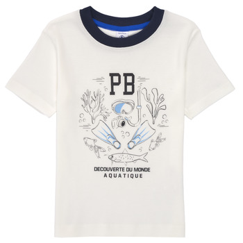 material Boy short-sleeved t-shirts Petit Bateau MARCO White