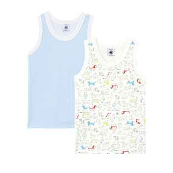material Boy Tops / Sleeveless T-shirts Petit Bateau MUNOI Multicolour