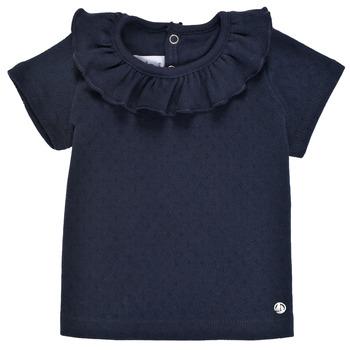 material Girl short-sleeved t-shirts Petit Bateau MELISSA Marine