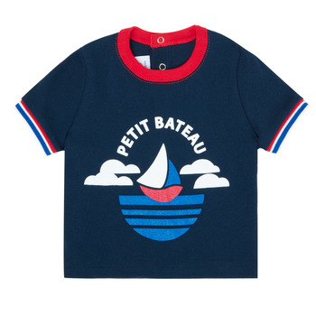 material Boy short-sleeved t-shirts Petit Bateau MENU Marine
