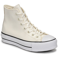 Shoes Women High top trainers Converse CHUCK TAYLOR ALL STAR LIFT ANODIZED METALS HI White / Beige