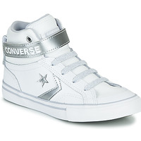 Shoes Girl High top trainers Converse PRO BLAZE STRAP METALLIC LEATHER HI White