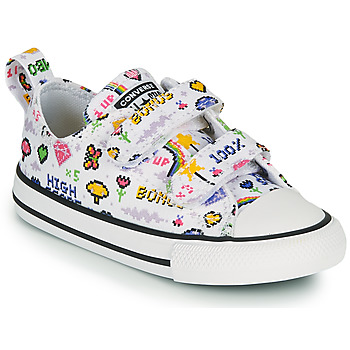 Shoes Girl Low top trainers Converse CHUCK TAYLOR ALL STAR 2V GIRLS GAMER OX White / Multicoloured