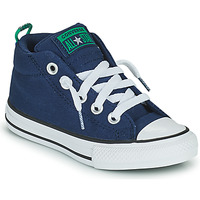 Shoes Children High top trainers Converse CHUCK TAYLOR ALL STAR STREET CANVAS COLOR MID Blue