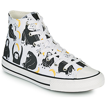 Shoes Children High top trainers Converse CHUCK TAYLOR ALL STAR GOING BANANAS HI White / Multicolour