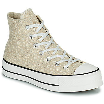 Shoes Women High top trainers Converse CHUCK TAYLOR ALL STAR LIFT CANVAS BRODERIE HI Beige